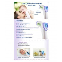 Termometro Infrarrojos sin Contacto Homologado CE RoHS