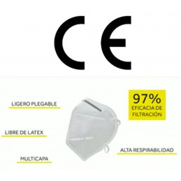 Mascarilla FFP2 NR CE 5 capas Fabricada en España características