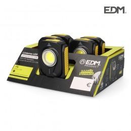 Linterna de trabajo led cob recargable USB 10 W 900 lúmenes EDM