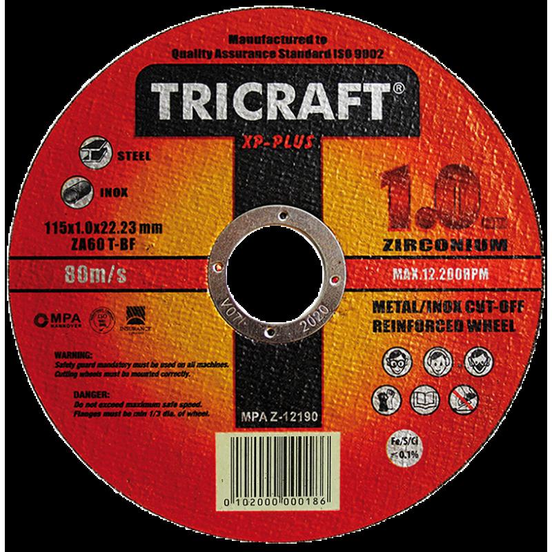 Disco de Corte Fabricado en ZIRCONIO TRICRAFT 115 mm