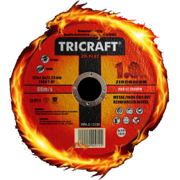 Disco de Corte Fabricado en ZIRCONIO TRICRAFT 115 mm fuego