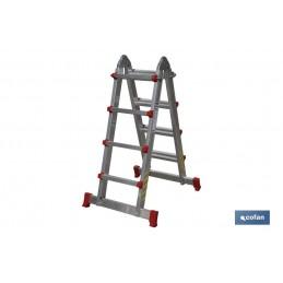 Escaleras Multiposición Aluminio EN131 Cofan 4 Tramos 4 Peldaños