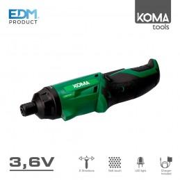 Atornillador a Batería Lithium-Ion 3,6v Koma Tools abatible