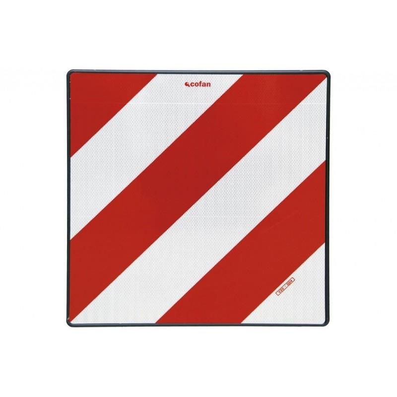 Placa V-20 señalización de Cargas Sobresalientes Homologada