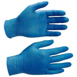 Guantes nitrilo azul desechables ambidiestros caja 100 uds (Sin polvo) detalle