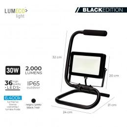 PROYECTOR LED CON PIE 30W 2000 LUMENS LUMECO detalle 1