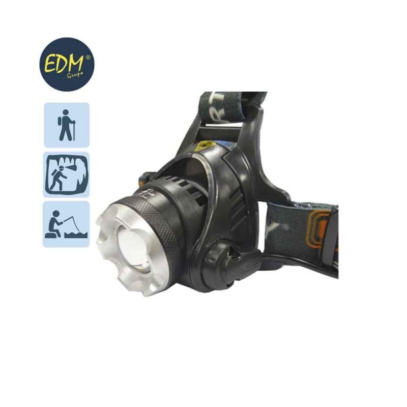 Linterna de Cabeza 1 Super Led T6 10W Cree 500 Lumen EDM
