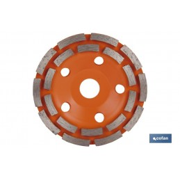 Corona Doble Pista para Mampostería 100, 125 y 180mm