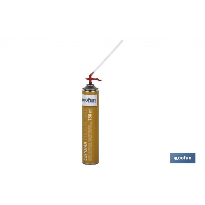 Espuma de Poliuretano Spray 750 ml con Cánula Cofan