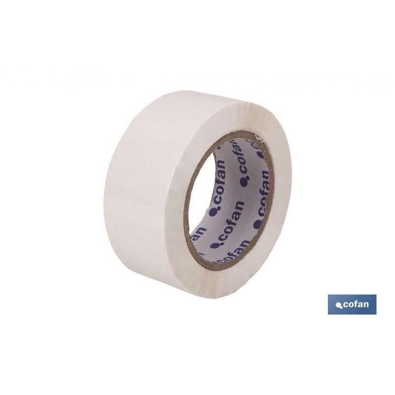 Rollo Cinta Adhesiva (Precinto) Blanco de polipropileno