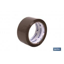 Rollo Cinta Adhesiva (Precinto) Marrón de polipropileno
