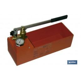 Bomba de comprobación profesional para instalaciones de agua, gas y calefacción