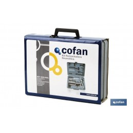 Remachadora neumática en maletín Cofan detalle embalaje