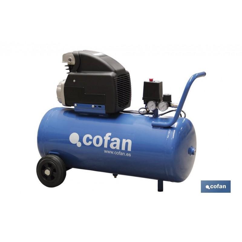 Compresor de Aire Lubricado 50 Litros Cofan Modelo HAVA