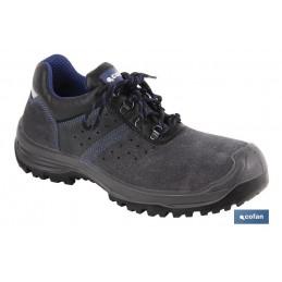 Zapatos Seguridad Serraje Gris Cofan Modelo Myron S-1P+SRC