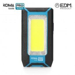 Linterna de Trabajo Recargable Led USB 500 Lumen 8 W KOMA TOOLS PRO SERIES frontal