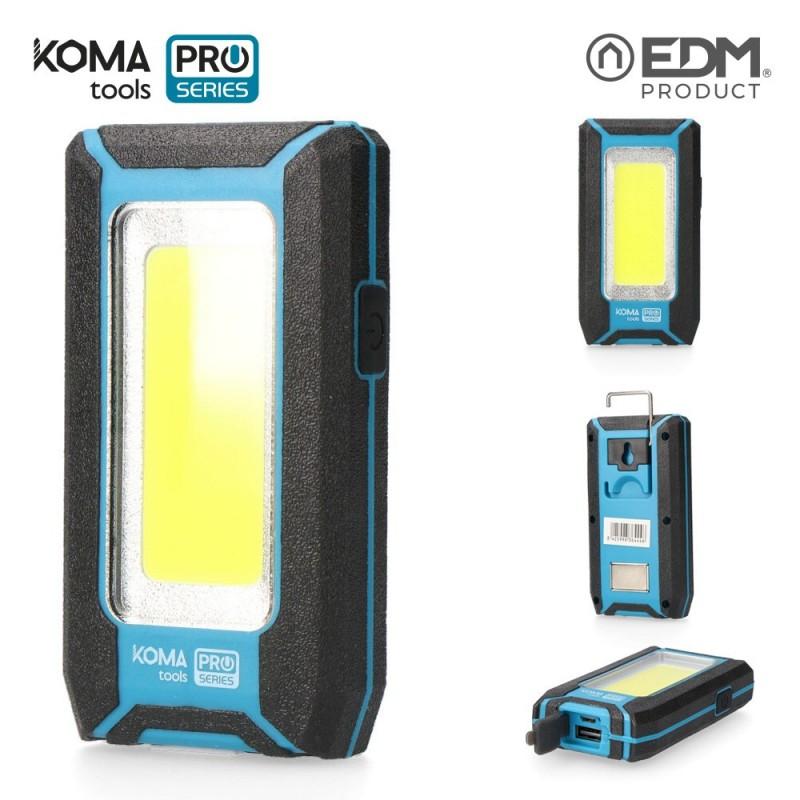 Linterna de Trabajo Recargable Led USB 500 Lumen 8 W KOMA TOOLS PRO SERIES