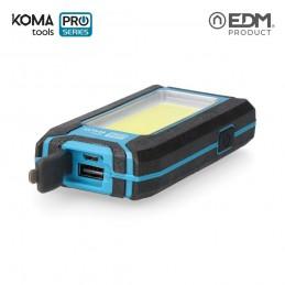 Linterna de Trabajo Recargable Led USB 500 Lumen 8 W KOMA TOOLS PRO SERIES cargador