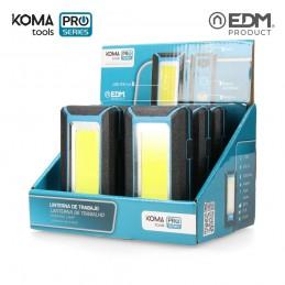 Linterna de Trabajo Recargable Led USB 500 Lumen 8 W KOMA TOOLS PRO SERIES expositor