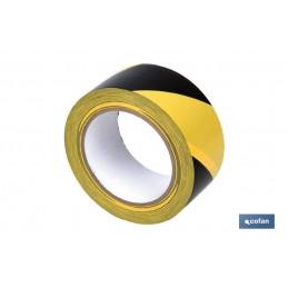 Cinta Adhesiva PVC Amarillo / Negro Señalizacion
