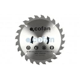 Disco de Corte 185mm para Madera Cofan