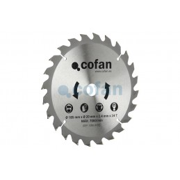 Disco de Corte 185mm para Madera Cofan detalle
