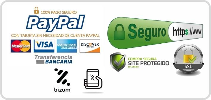 pago seguro paypal/tarjeta/bizum ssl